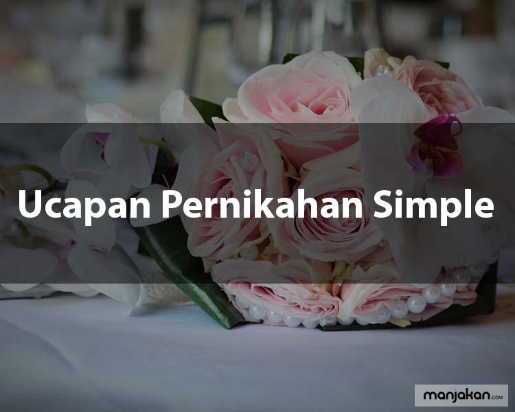 5. Ucapan Pernikahan Simple