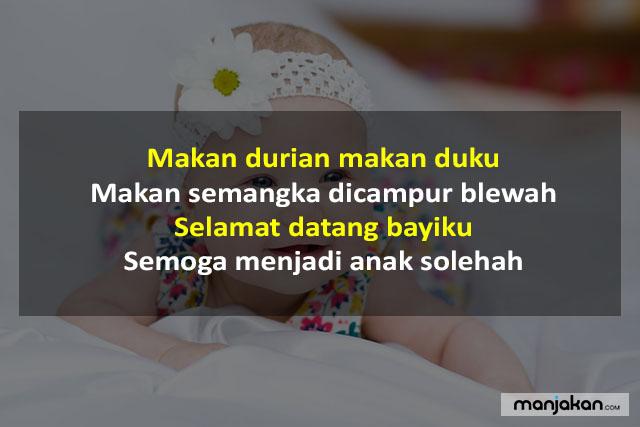 Pantun Untuk Menyambut Bayi