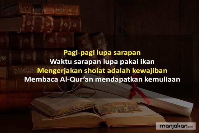 Contoh Pantun Agama Tentang Membaca Kitab