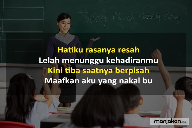 Pantun Perpisahan Untuk Guru