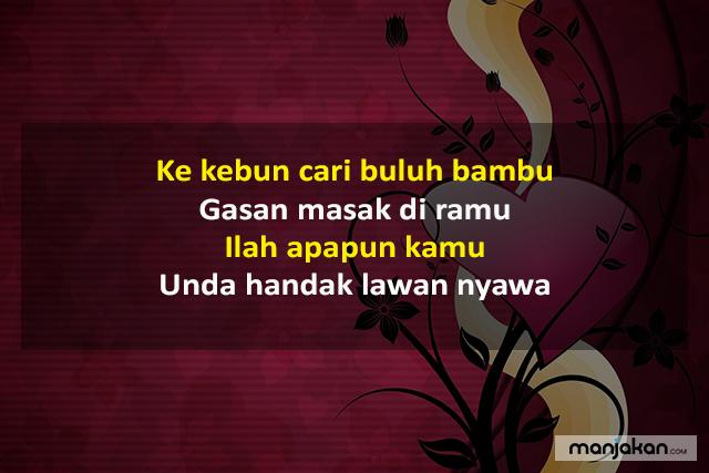 Pantun Bahasa Banjar Cinta
