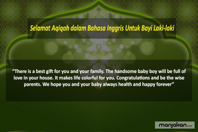 Selamat Aqiqah Dalam Bahasa Inggris Untuk Bayi Laki Laki