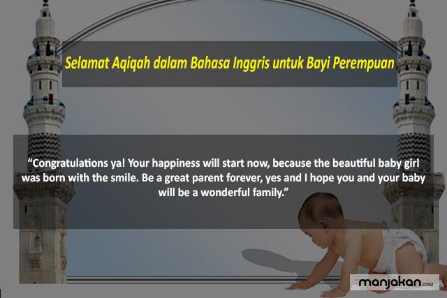 Selamat Aqiqah Dalam Bahasa Inggris Untuk Bayi Perempuan