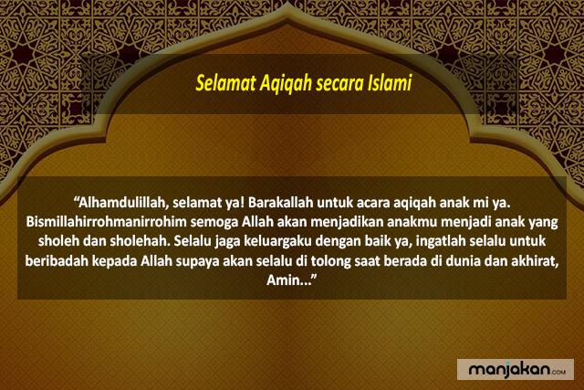 Selamat Aqiqah Secara Islami